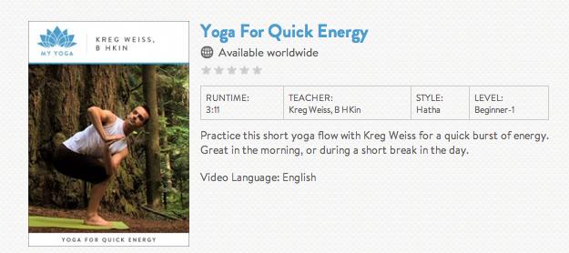 GaiamTV My Yoga Videos